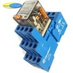 553480240040 реле 7А упр. 24VAC, с розеткой на дин рейку - 9404SMA - finder