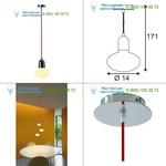 133401 SLV PIRUS светильник подвесной для лампы E14 (не более D-3,8см,L-11,7 см) 11Вт макс., хром/ красный