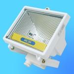 Прожектор галогенный Camelion 0201 FL-500W белый, в комплекте с лампой, IP 54, 220-240V