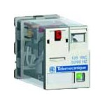 Промежуточное электромеханическое реле Schneider Electric Zelio Relay RXM3AB1B7, управление 24 В AC