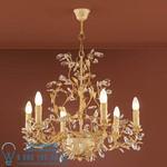 Арт.481016 Shuller  VERDI LAMP, 6L, IVORY&GOLD FINISH