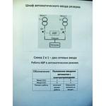 ШАВР 250А Схема 2в1-два сетевых ввода