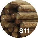 Опора деревянная пропитанная ЛЭП класса S11 в комплекте с полиэтиленовой крышкой и тремя гвоздями
