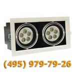 Встраиваемый карданный двойной светодиодный светильник BR-DLS-002/2