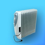 """Масляный радиатор электрический 12-секцион. """"Vitek"""" VT-1727 (2,6кВт), 3 режима, термостат."""