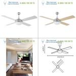 Faro ICARIA Aluminium ceiling fan 33701, люстра-вентилятор