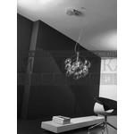 подвесной светильник Pro Cecco S5D хром-прозрачное боросиликатное стекло, G4 5x20,De Majo