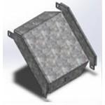УСВР-200х100 OSTEC Угловой соединитель внешний к лотку УЛ 200х100