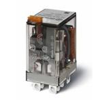 Миниатюрное силовое электромеханическое реле 2CO 12A,  опции: кнопка тест + мех.индикатор, 563292200040, Finder