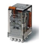 Электромеханическое реле 4CO, 7A, катушка 24В DC, кнопка тест + мех.индикатор, 553490240040, Finder, в наличии