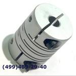 SRB-22C 6x10 Муфта для энкодеров разрезная,  диаметр 22мм, с зажимным кольцом, диаметры валов 6*10мм