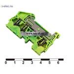 Клеммные колодки на динрейку JUT3-2.5/1-2PE (от 100 шт.)