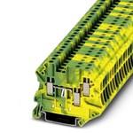 3044539 UT 2,5-TWIN-PE - электротехническая клемма для заземления с винтовым заж., Phoenix Contact.
