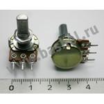 Резистор переменный 2ноги, 16мм, торшерный с выкл.250ком,линейный
