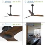 Faro 33395 JUST FAN Black/wood ceiling fan with DC motor, люстра-вентилятор