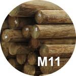 Опора деревянная пропитанная ЛЭП класса М11 в комплекте с полиэтиленовой крышкой и тремя гвоздями