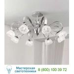 1864/8PL Argento nero / Glass 577 потолочная люстра Masca