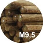 Опора деревянная пропитанная ЛЭП класса М9,5 в комплекте с полиэтиленовой крышкой и тремя гвоздями