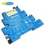 345170120010 реле 6А упр. 12VDC, с розеткой на дин рейку - 93017024 - finder