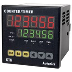 CT6S-1P4 Цифровой счетчик/таймер, 100-240VAC, индикатор 6 цифр, Autonics