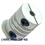 SRB-22C 5x6 Муфта для энкодеров разрезная,  диаметр 22мм, с зажимным кольцом, диаметры валов 5*6мм