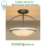 Oval Mackintosh Semi-Flush Ceiling Fixture with Glass Options Hubbardton Forge