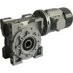 Мотор-редуктор червячный из нержавеющей стали - 100 об/мин, передаточное число i-14, момент 57