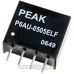 Преобразователь P6AU-0512ELF(sip4,11x10x6mm)PEAK,IN4,5---5,5V--->OUT12V,0,1A