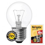 Лампа накаливания Navigator прозрачная 40W E27