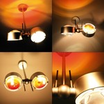 Puk Side Twin Wall/Ceiling Light светильник Top Light, G9 2x60W