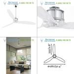 33394 JUST FAN Chrome ceiling fan with DC motor Faro, люстра-вентилятор