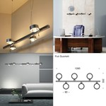 Puk Quartett & Puk Sixtett LED Pendant Light светильник Top Light, Depends on lamp size