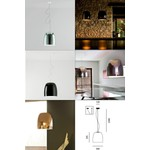 Светильник Prandina Notte Fluo S5/Metall Pendant light, Gx24q-4 1x42W