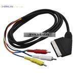 Аудио/видео шнуры SCART-3RCAm D 7mm 1,5m (от 100 шт.)