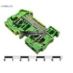 Клеммные колодки на динрейку JUT3-6PE (от 20 шт.)