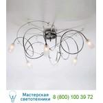 1850/6PL Argento brunito / Glass 559 потолочная люстра Masca