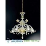 Подвесная люстра 87/5 Cristallo/Oro 24Kt Vetri Lamp