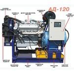 Дизель-генератор, дизельный генератор АД120 (АД-120), АД-120С, ЭД120 (ЭД-120), ДЭС-120, ДУЭ-120, АСДА-120, ДГ-120, ДГА-120, ДГУ-120 (ДГУ120) или ПЭС-120.