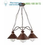NÁUTICA Rust pendant lamp 3L 71114 Faro, подвесной светильник