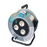 """Удлинители на металлической катушке силовые """"РВМ Электро"""" от 30 до 60 метров, с автоматическим выключателем"""