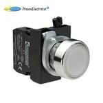 CM1B0DB Кнопка с подсветкой-cветодиод белая (контакт 1HO) 100-250 Вольт переменного тока , EMAS