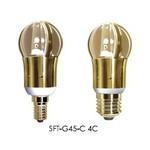 Лампа светодиодная свеча диммируемая 5W E14/E27 золотистая