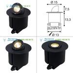 228365 SLV GIMBLE OUT 90 светильник встраиваемый IP65 для лампы MR16 35Вт макс., антрацит