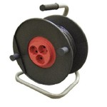 Удлинитель на пластиковой катушке УХ-02-2, 3 розетки, 40 метров, с заземляющим контактом