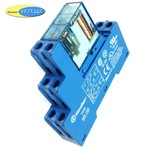 405290120000 реле 8А упр. 12VDC, с розеткой на дин рейку - 9505SMA - finder