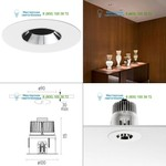 Chrome 03.4632.06.DA Flos Architectural, светильник > Ceiling lights > Recessed lights