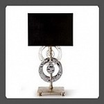 Eurolampart Rings 2475/01BA Argento nero, Настольная лампа