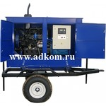 Передвижные дизельные электростанции 30 кВт, в капоте, на одноосном прицепе.