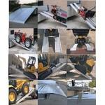 ПОГРУЗОЧНЫЕ РАМПЫ для техники на колесах и для техники на металлическом гусеничном ходу ,резиновых г