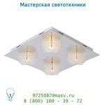 Lucide ROBA Deckenl. 4xG9/28W 40/40/10.5cm Glas/Kroom потолочный светильник 36105/24/11